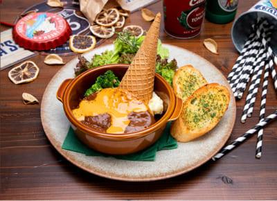 「TIGER & BUNNY Cafe PLAYBACK!!」 【ロックバイソン】 チーズハンバーグプレート