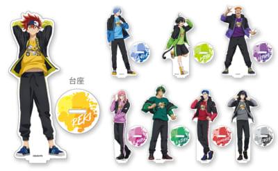 TVアニメ「SK∞ エスケーエイト」×Fave Park イベント会場グッズ アクリルスタンド 各1,500円(税込)