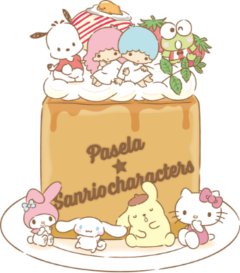 「サンリオキャラクターズハニトーカフェ」キャラクターとハニトー