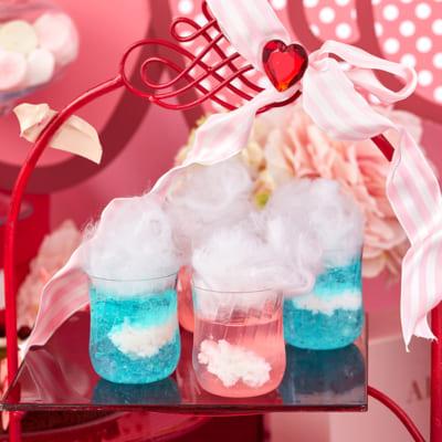 スイーツブッフェ ~ハローキティ&ウィッシュミーメルのふわふわリボンパーティ~ ふわふわ雲のあおぞらゼリー・ももぞらゼリー