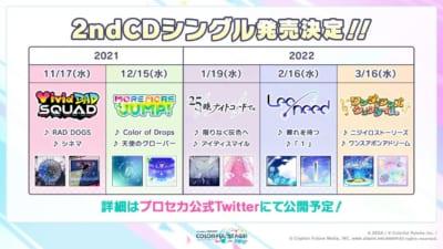 「プロジェクトセカイ」2ndシングル発売情報