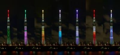 「鬼滅の刃×東京スカイツリー」特別ライティング点灯