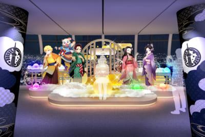 「鬼滅の刃×東京スカイツリー」天望回廊での展示装飾〈弐〉 到着エリア
