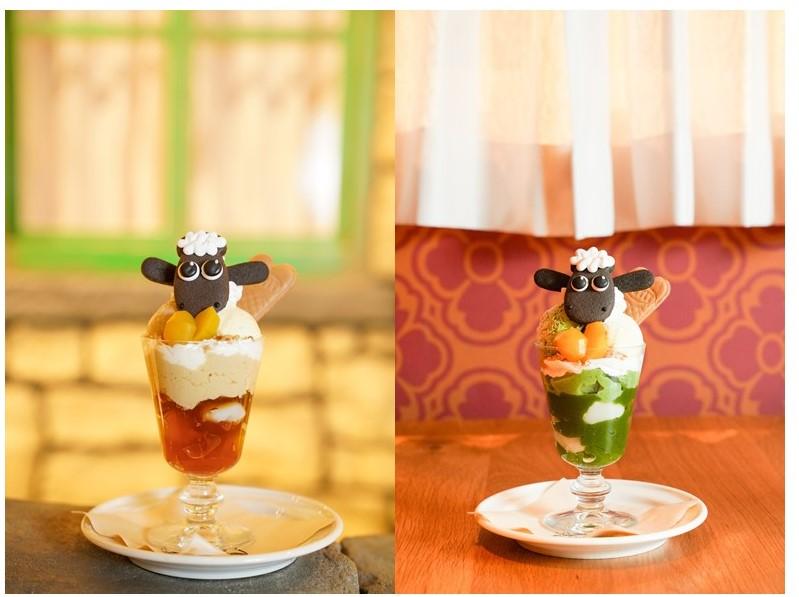 「ひつじのショーン」カフェに秋限定メニューが登場!ほうじ茶&抹茶パフェにはショーンがON!