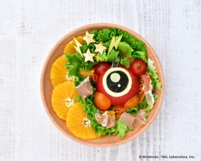 じっ…と見つめる!ワドルドゥのビリビリ☆ビーム de サラダ