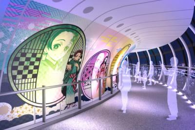 「鬼滅の刃×東京スカイツリー」天望回廊での展示装飾〈参〉 回廊エリア