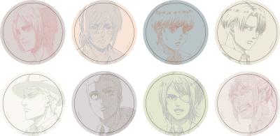 『進撃の巨人』缶バッジコレクション(全8種)