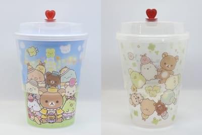 「リラックマ&すみっコぐらしフェスティバル」札幌会場 オリジナルカップに入ったドリンク各900円
