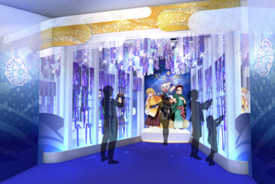 「鬼滅の刃×東京スカイツリー」天望回廊での展示装飾〈陸〉 ソラカラポイント