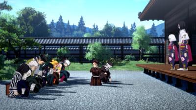 ゲーム内スクリーンショット -ソロプレイモード「柱合会議」