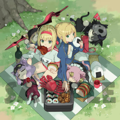 OVA「Fate/Grand Carnival」2nd Season店舗別共通特典:連動購入特典武梨えり描き下ろしクッションカバー(おもて)