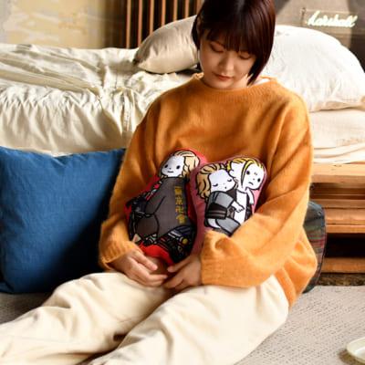 「東リベ×ビィズニィズ」ダイカットクッション(全4種)¥2,970 (税込) (マイキーとドラケン) (マイキー)