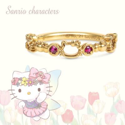 ピンキーリング(Hello Kitty) シルバー(イエローゴールドコーティング)