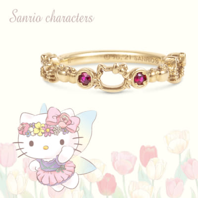 サンリオキャラクターズピンキーリング(Hello Kitty) K18イエローゴールド