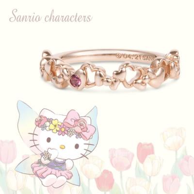 ピンキーリング(Hello Kittyのリボン) K18ピンクゴールド