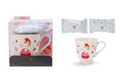 「ハローキティ×ピエール・エルメ コラボデザインシリーズ」マグカップ&お菓子セット