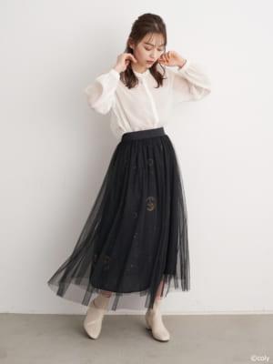 「魔法使いの約束」× earth music&ecology Japan Label 魔法使いの約束 チュールスカート モデル着用