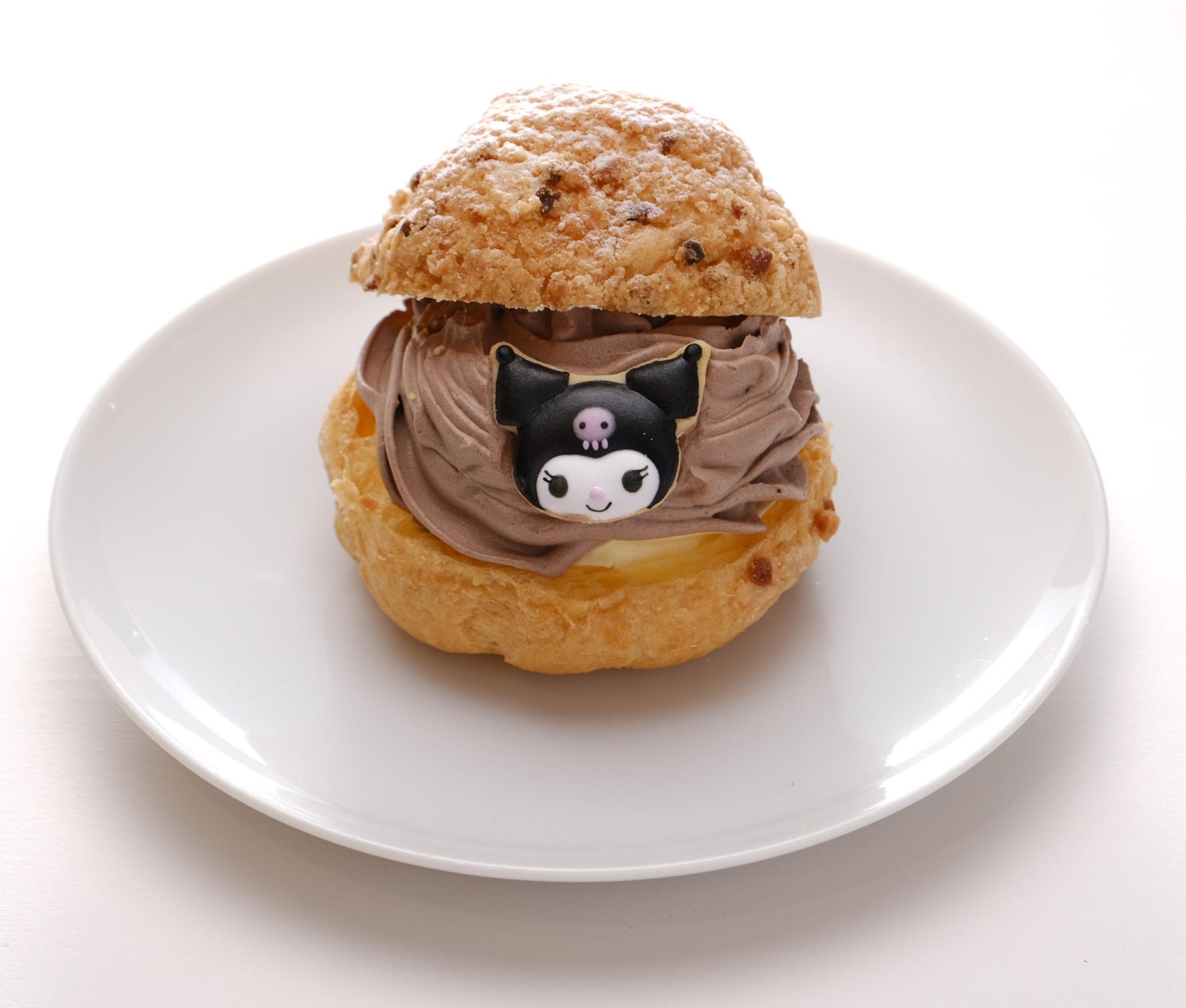 「Hello Kitty Japan ダイバーシティ東京 プラザ店」カフェ_クロミ_フード3シュークリーム