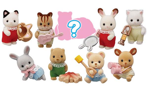 シルバニア 赤ちゃんコレクション 赤ちゃんキャンプシリーズ(全9 種ランダム)