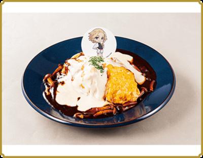 「東リベ×極楽湯」トロふわのデミチーズオムライス