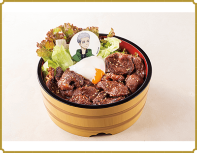 「東リベ×極楽湯」スタミナつくガリバタ!ハラミ丼