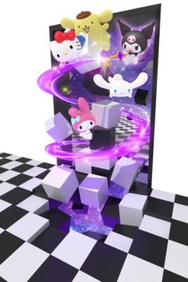 「Hello Kitty Japan ダイバーシティ東京 プラザ店」カフェ_クロミ_トリックアートイメージ