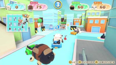 Nintendo Switch「PUI PUI モルカー Let's!モルカーパーティー!」ミニゲーム場面