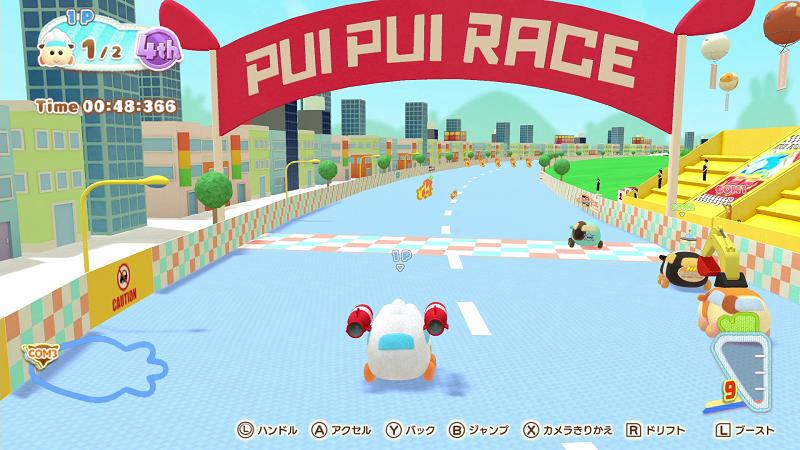 Nintendo Switch「PUI PUI モルカー Let's!モルカーパーティー!」ミニゲーム場面4