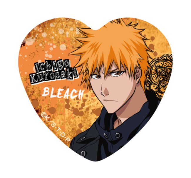 「BLEACH」オンラインくじ BLACK & ROCKおまけキャンペーン①ハート型缶バッジ