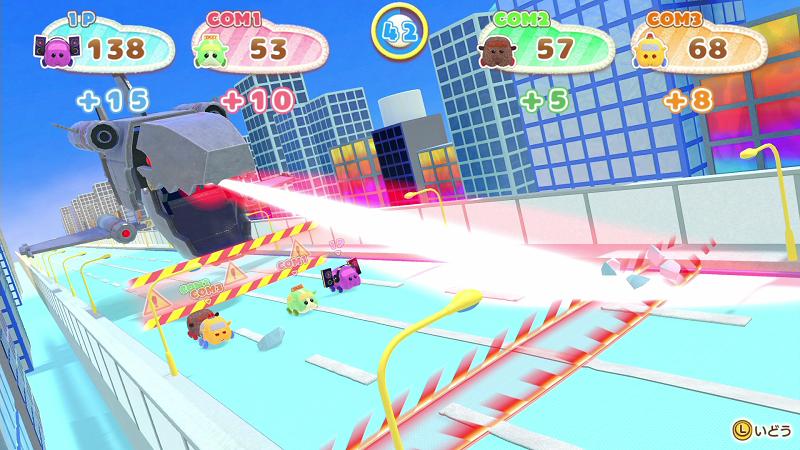 Nintendo Switch「PUI PUI モルカー Let's!モルカーパーティー!」ミニゲーム場面9