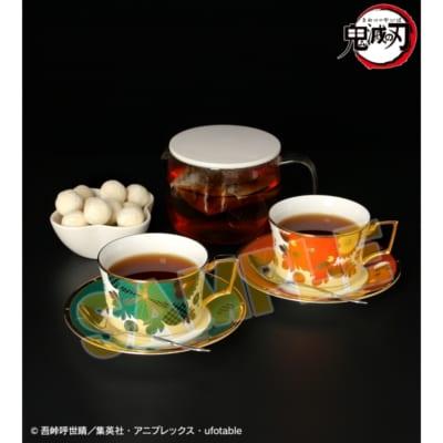 鬼滅の刃 ノリタケ 竈門炭治郎&煉󠄁獄杏寿郎 カップ&ソーサーセット