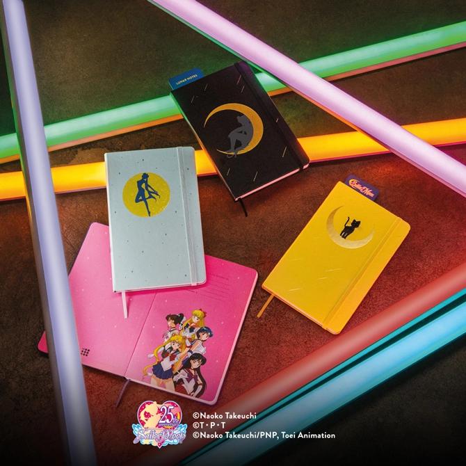 「セーラームーン」イタリアの文具ブランドとコラボ!限定版ノートブックコレクション全4種