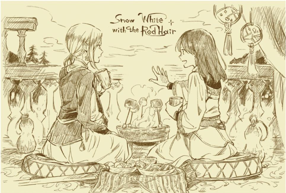「15th Anniversary 赤髪の白雪姫コラボレーションカフェ」オリジナルポストカード特典1