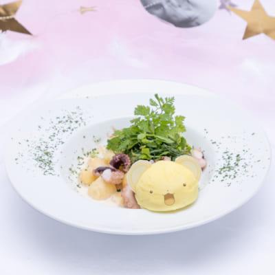 「カードキャプターさくら」コラボカフェ ケロちゃんのクリームニョッキ ~びっくり!たこ焼き風!?~