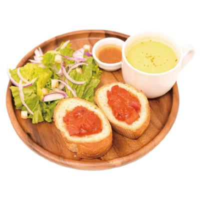 「15th Anniversary 赤髪の白雪姫コラボレーションカフェ」焼きトマトとパン