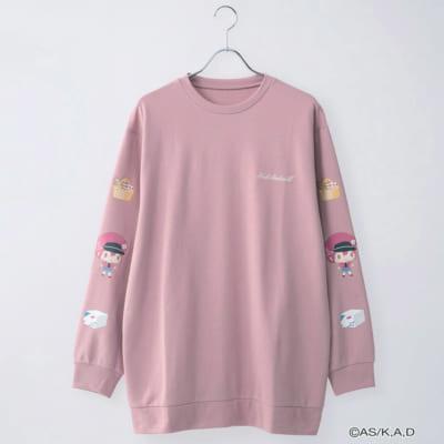 はたらく細胞 袖プリントプルオーバー ピンク