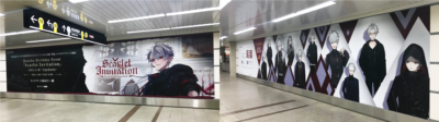 葛葉さんのソロイベント「Kuzuha Birthday Event 「Scarlet Invitation」」駅広告:なんば駅