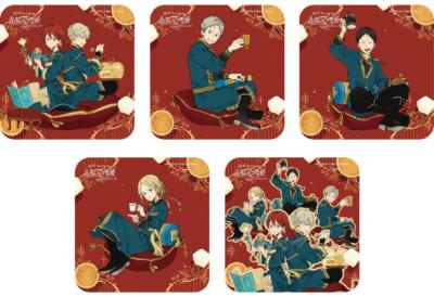 「15th Anniversary 赤髪の白雪姫コラボレーションカフェ」オリジナル特典コースター5種