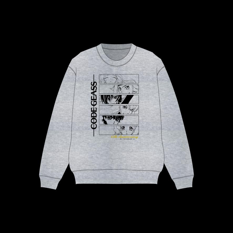 「コードギアス 反逆のルルーシュ」15周年記念 POP UP ショップ スウェット(S~XL)…各5,500円(税込)