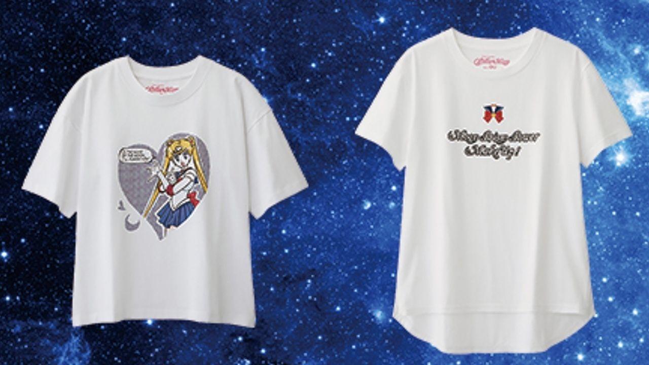 普段使いできそうなおしゃれで可愛いTシャツがお手頃価格で手に入る!『セーラームーン』×GUのコラボTシャツが登場!
