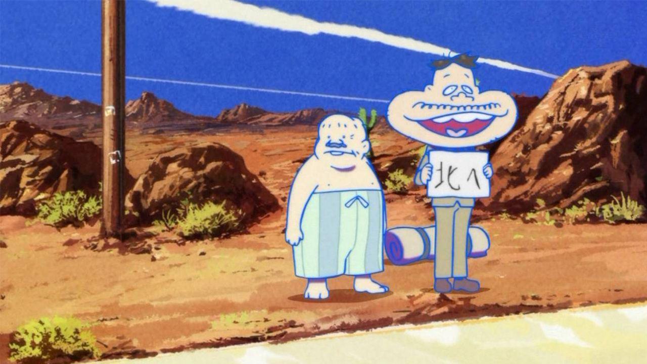 『おそ松さん』第7話「北へ」デカパンとダヨーンの主線の色が途中で変わってる?