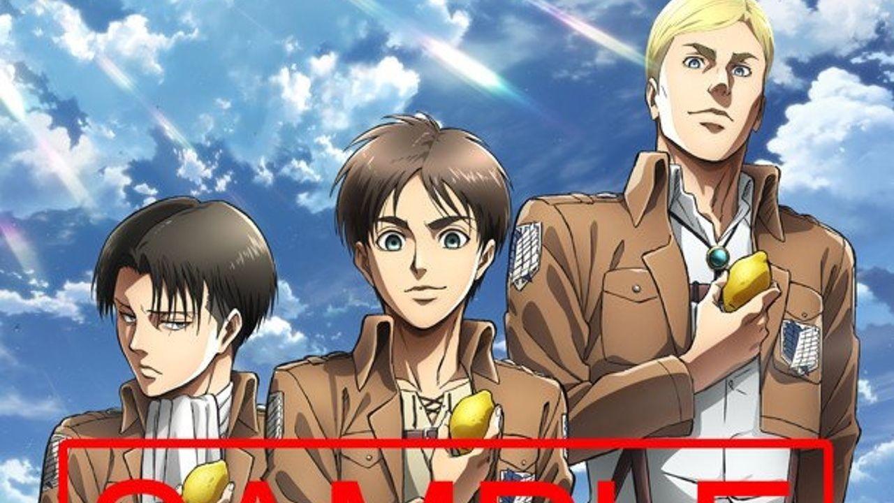 『進撃の巨人』の3人がレモンを片手に心臓を捧げよ!ザテレビジョンに描き下ろし&梶裕貴さんへのインタビューを掲載!