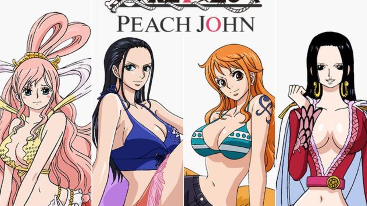 これでナミやハンコック達になりきれる!?『ONE PIECE』×「PEACH JOHN」のコラボランジェリーと水着が登場!