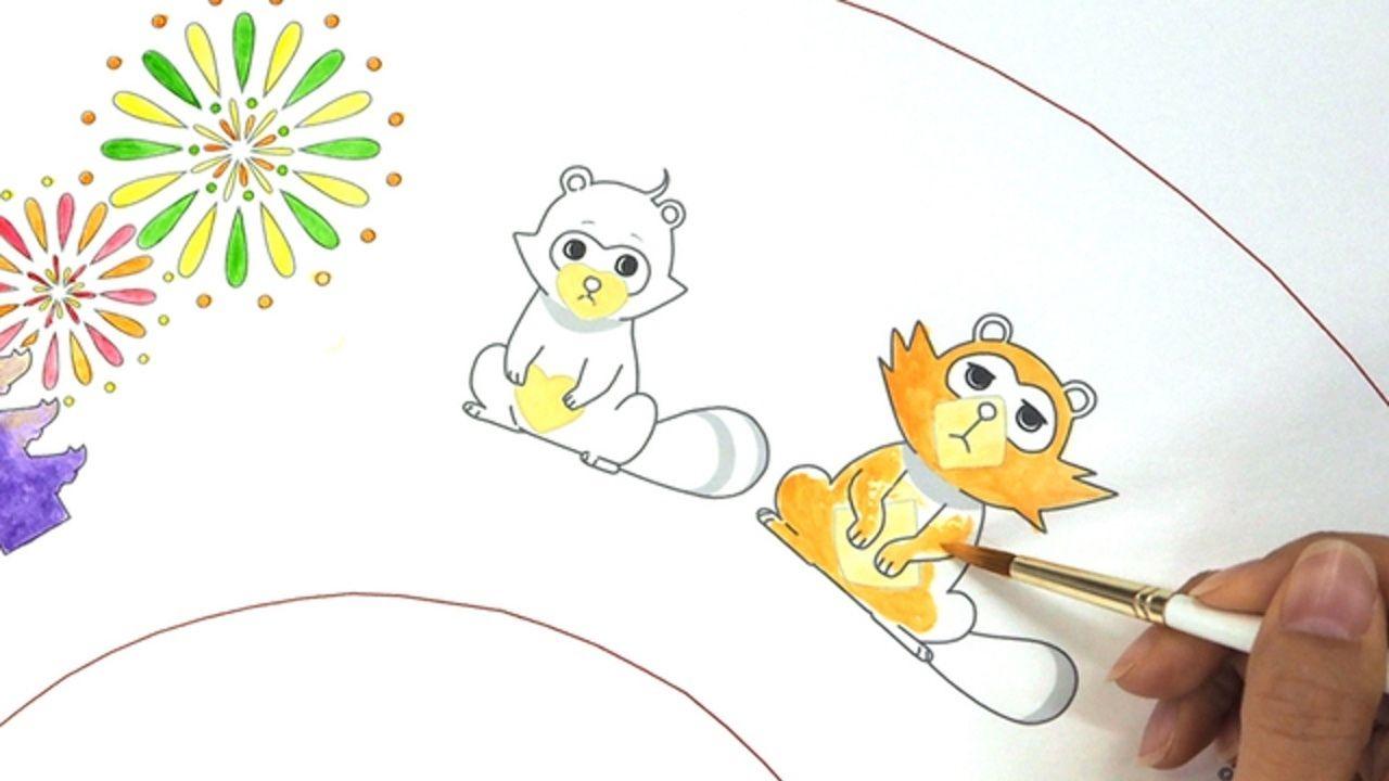 アニメと伝統工芸が楽しめる!『有頂天家族』と京都の京扇子・舞扇堂がコラボした「京扇子絵付け体験」を開催!