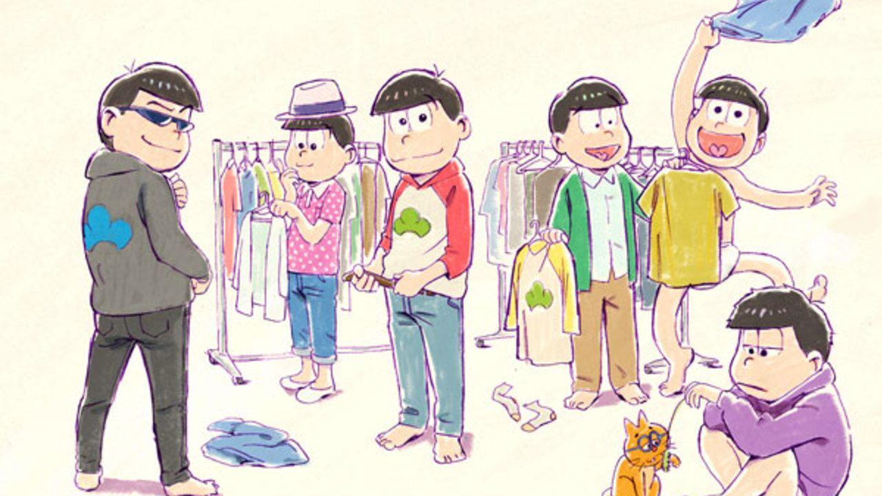 待ってました!『おそ松さん』第2期制作決定!新ビジュアルでは2期に向けて衣装を選ぶ6つ子が登場!