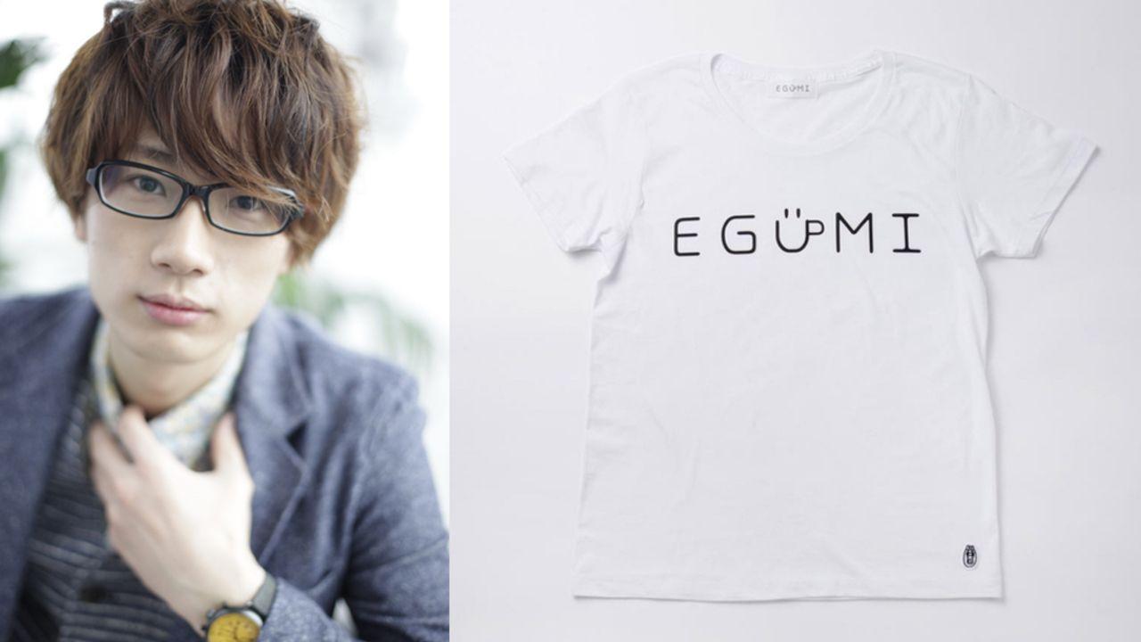 """江口拓也さん本人も""""気持ち悪い絵""""と自覚するイラストがついにアパレルブランドに進出!?4月25日よりMASAKAとコラボした「EGUMI」をスタート!"""