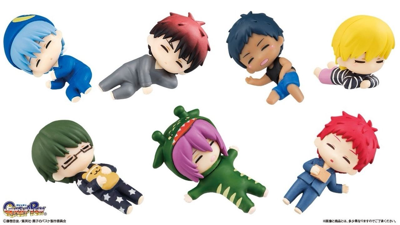 『黒子のバスケ』よりすやすや眠る「キセキの世代」たちがキュートなマスコットになってガシャポンに登場!それぞれのパジャマにも注目!