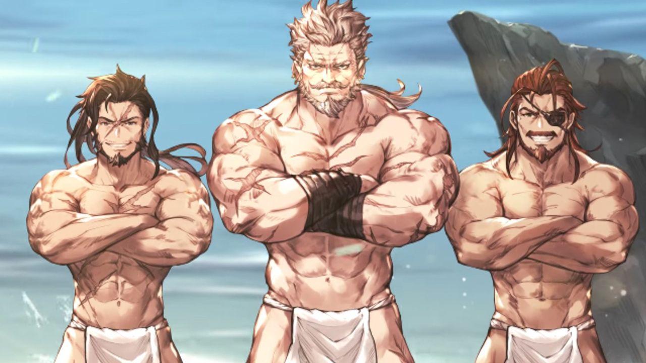 揺れ動く褌やいい筋肉に思わずドキりとしちゃう…!?『グラブル』のキャラソン「三羽烏漢唄」のMVが公開!