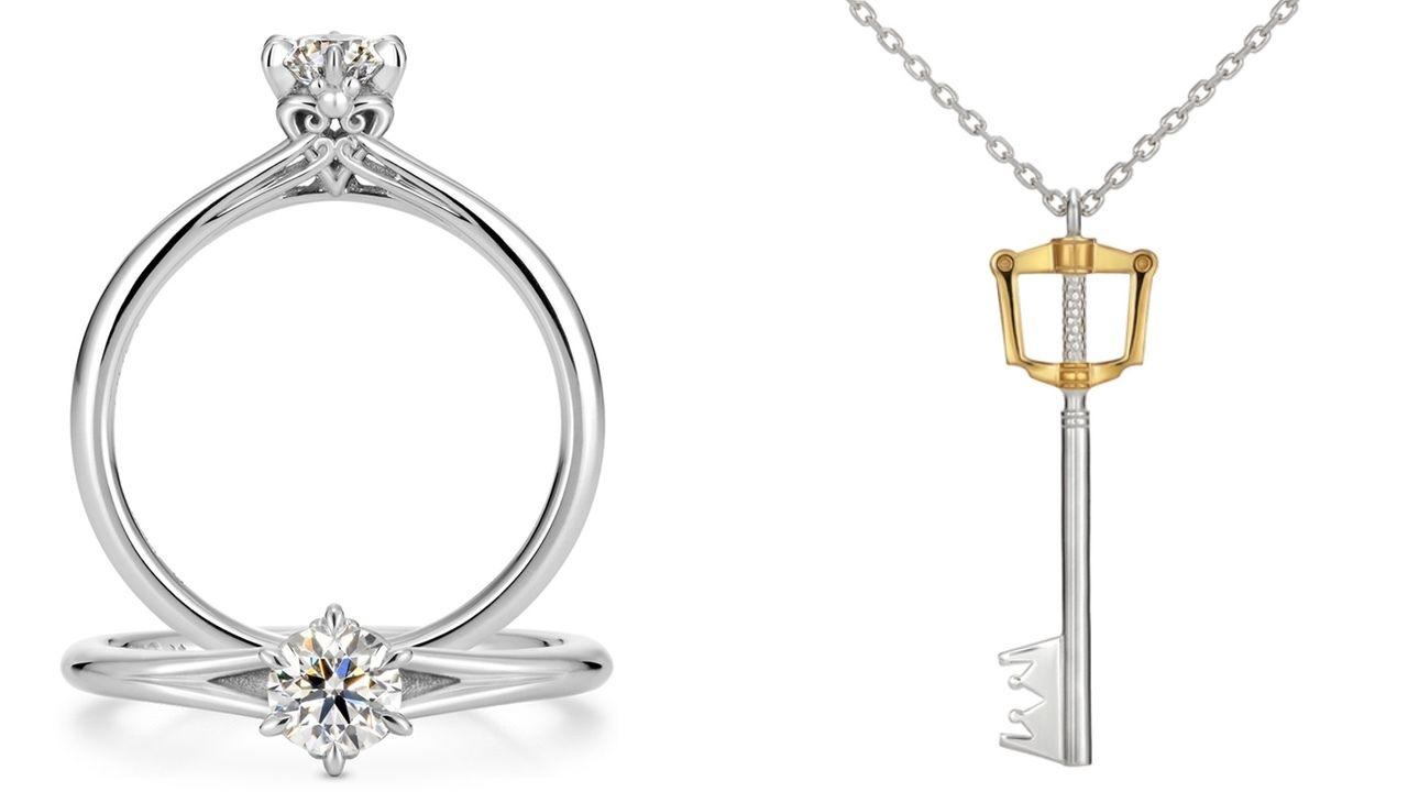 婚約・結婚指輪も!『キングダム ハーツ』×ケイ・ウノのコラボよりキーブレードのリング&ネックレスなどが公開!