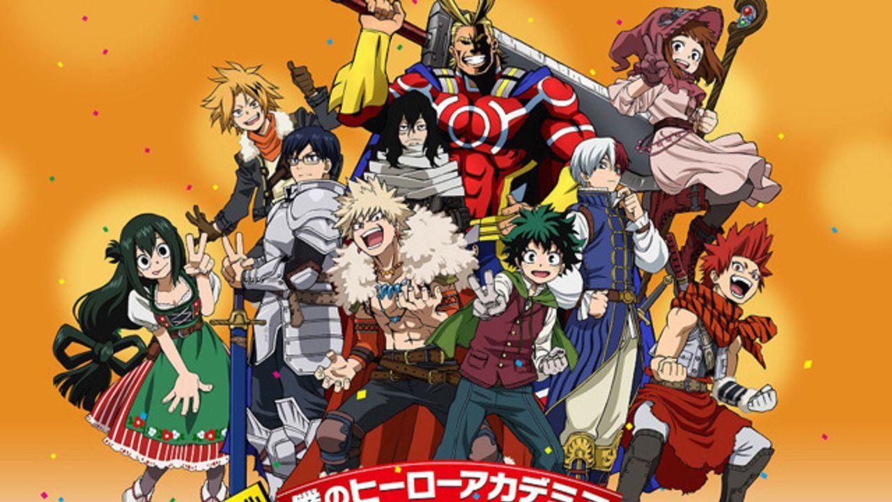 アニメ『ヒロアカ』スペシャルイベントのキービジュアルにエンディングのあの衣装でデクたちが集合!